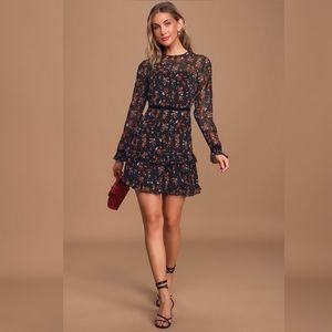 Lulus Floral To See Mini Dress